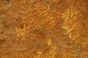 Pohľad na celú oblasť Stredosibírskej vysočiny počas jesene.