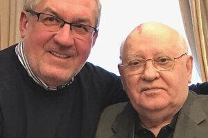 Jeden z najaktuálnejších  záberov Jánosa Zolcera s Michailom Gorbačovom.