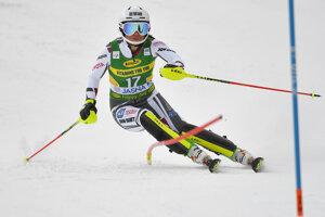 Martina Dubovská na trati počas 1. kola slalomu Svetového pohára v Jasnej.