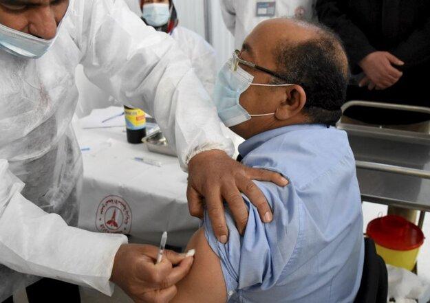 Očkovanie ruskou vakcínou Sputnik V v Tunisku.