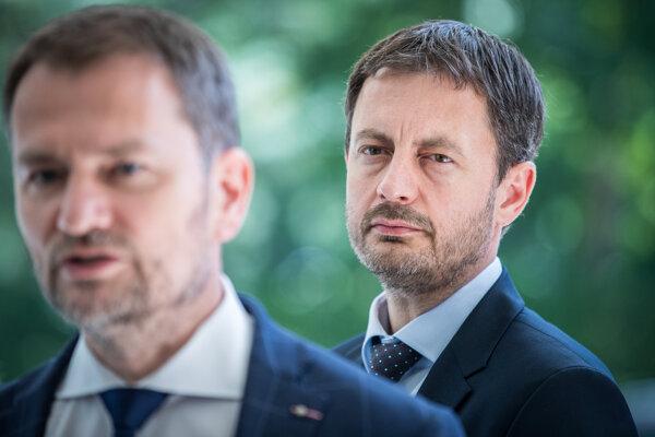 Premiér Igor Matovič a minister Heger.