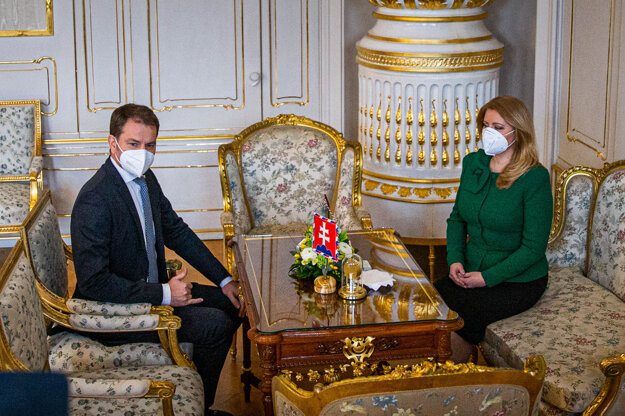 16. marec 2021. Igor Matovič sa stretol s prezidentkou Zuzanou Čaputovou.
