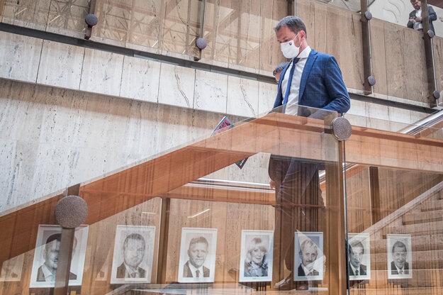 8. júl 2020. Predseda vlády Igor Matovič po rokovaní vlády.