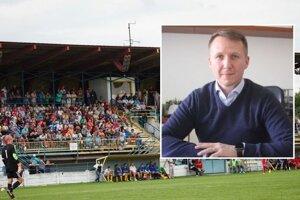 Štadión vo Vrábľoch už má svoje roky, ľudia okolo primátora Tibora Tótha a šéfa miestneho futbalu Mariána Bafrnca (na fotke) už rozmýšľajú, ako ho vynoviť.