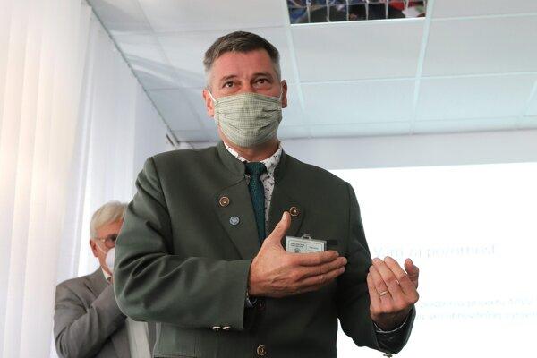 Predseda Slovenskej lesníckej komory Milan Dolňan.