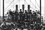 Poprava cárovrahov a členov teroristickej organizácia Narodnaja volja 3. apríla 1881 v Petrohrade.