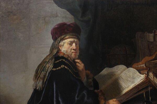 Detail z obrazu Učenec v študovni