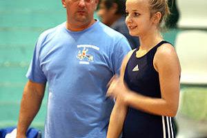 Simona Zámočníková s trénerom Pekárom.