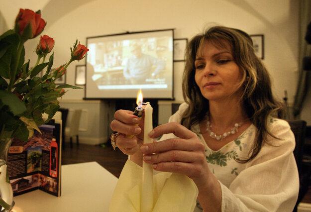 15. marec 2014, Banská Bystrica. Helena Mezenská bola kandidátkou na prezidentku.