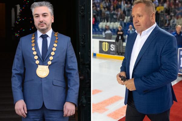 Župan Trnka a primátor Danko.
