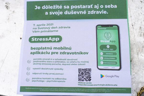 Návod k aplikácii pre zdravotníkov, mapujúcej ich duševný stav v aktuálnej pandemickej situácii, s názvom StressApp.