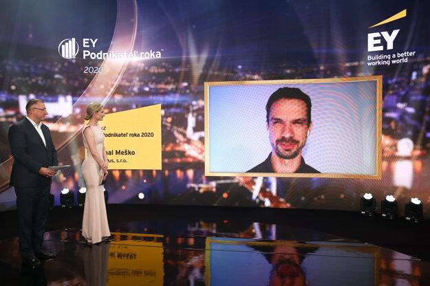 Michal Meško získal ocenenie EY Podnikateľ roka 2020.