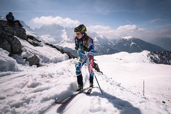 Nikola Maťková na trati pretekov Svetového pohára.