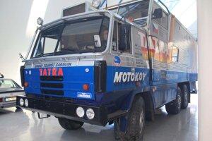 """Tatra 815 GTC """"Tatra kolem světa"""" naposledy v starých priestoroch múzea."""