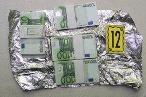 Vyšetrovatelia zaistili aj finančnú hotovosť 10 000 eur.