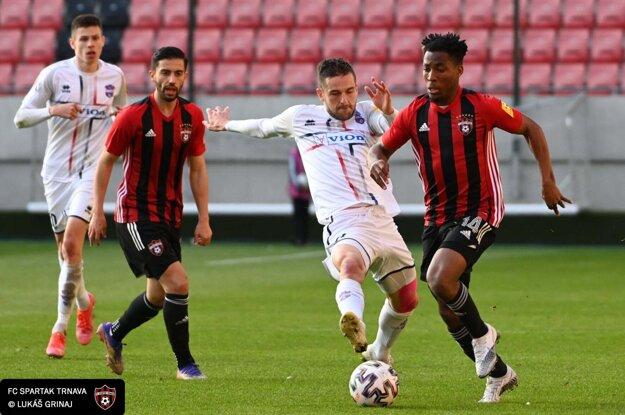 Momentka zo zápasu Spartak Trnava - Z. Moravce