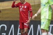 Jamal Musiala v drese Bayernu Mníchov.
