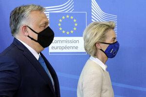 Šéfka eurokomisie Ursula von der Leyenová rokovala s s maďarským premiérom Viktorom Orbánom.