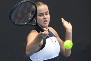 Anna Karolína Schmiedlová na Australian Open 2021.