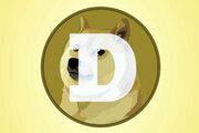 Logo kryptomeny dogecoin.