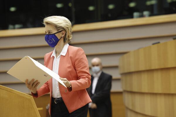 Predsedníčka Európskej komisie (EK) Ursula von der Leyen.