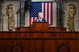 Prezident Joe Biden počas prejavu v americkom Kongrese.