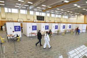 Očkovacie centrum na Ostrovského v Košiciach.