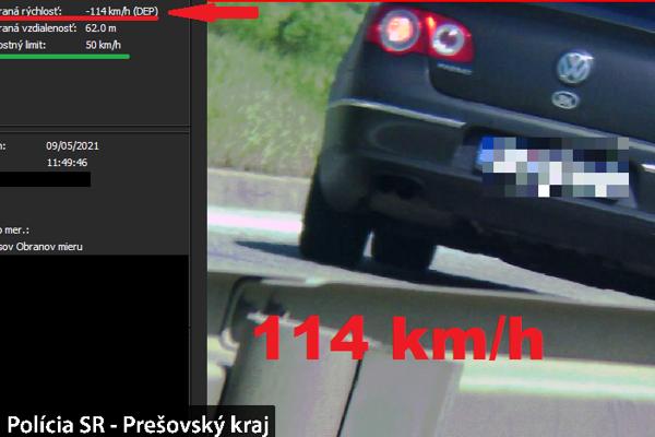 Volkswagenu namerali rýchlosť 114 km/hod.