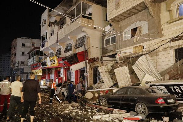 Dom v Gaze zasiahol izraelský nálet.