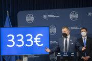 Predseda parlamentu Boris Kollár počas predstavovania príspevku 333 eur pre deti z rodín v hmotnej núdzi.