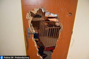 Zlodej poškodil dvojicu dverí.