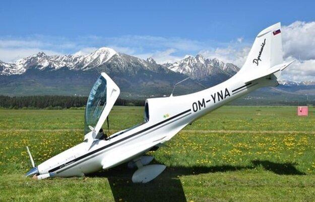 Havária lietadla na popradskom letisku. Po kliku na fotku sa dostanete k článku.