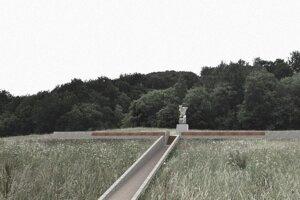 Mohyla by pripomínala vojenský zákop, zvrchu by mal tvar kríža. Pamätník padlým vojakom v Nižnej Polianke - vizualizácia. Jej autormi sú Ing. arch. Maroš Drobňák a Ing. arch. Radoslav Hamara.