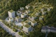 Vizualizácia projektu Medze, ktorý v Dúbravke pripravuje spoločnosť Penta Real Estate.