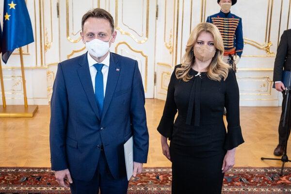Samuel Vlčan a prezidentka Čaputová.