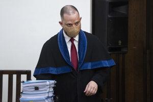 Marek Para, advokát obžalovaného Mariana K. počas verejného zasadnutia na Najvyššom súde.