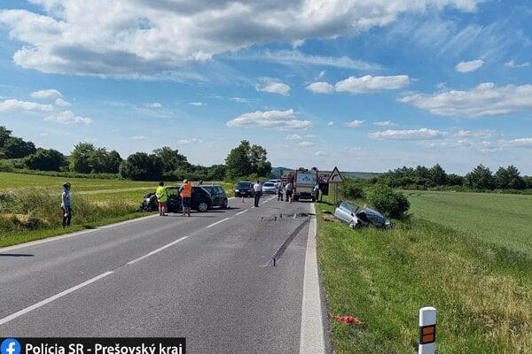Nehoda pred obcou Soľ.