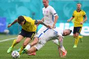 Marek Hamšík v zápase Slovensko - Švédsko na ME vo futbale (EURO 2020 / 2021).