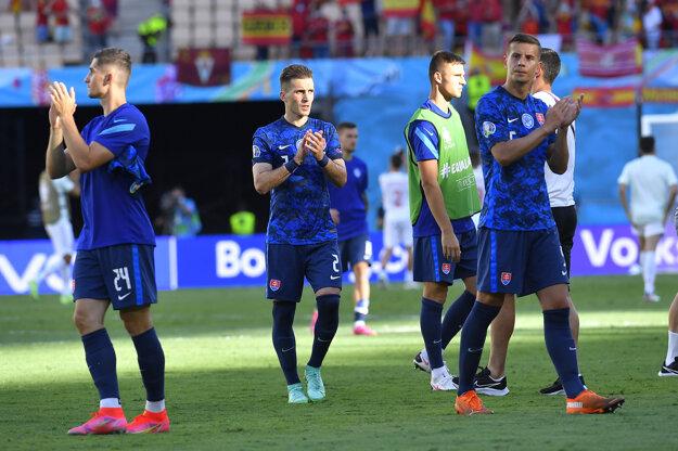 Slováci po zápase Slovensko - Španielsko na ME vo futbale (EURO 2020 / 2021).