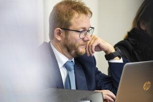 Právny zástupca TV Markíza Tomáš Kamenec.