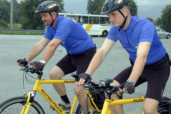 Mestské policajné hliadky na bicykloch bolo v minulosti možné vidieť aj v Martine.