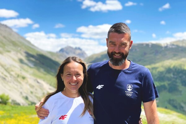 Mária Katerinka Czaková s trénerom Matejom Spišiakom.