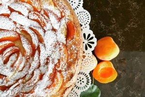 Marhuľový koláč s ricottou
