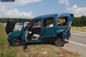Vodič utrpel zranenia.