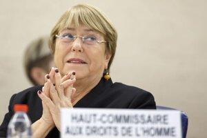 Vysoká komisárka Organizácie Spojených národov pre ľudské práva Michelle Bacheletová.