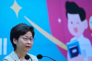 Vyjadrenia a kroky USA kritizovala aj správkyňa Hongkongu Carrie Lamová.