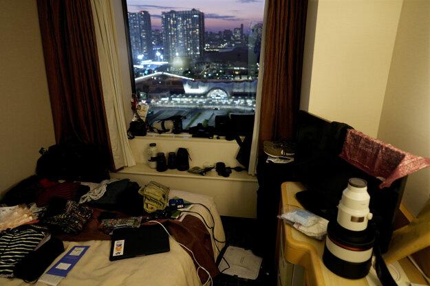 Hotelová izba v Tokiu.