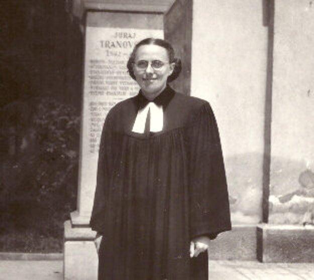 Prvá slovenská evanjelická farárka Darina Bancíková.