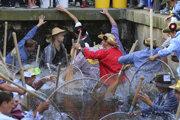 Tradičná rybárska slávnosť v meste Memmingen.