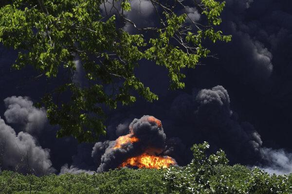 Požiar vypukol v Kamensk-Šachtinskij